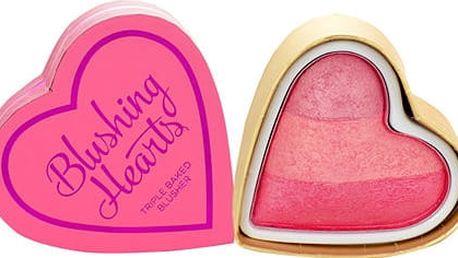 Makeup Revolution London I Heart Makeup Blushing Hearts 10 g tvářenka Candy Queen Of Hearts W