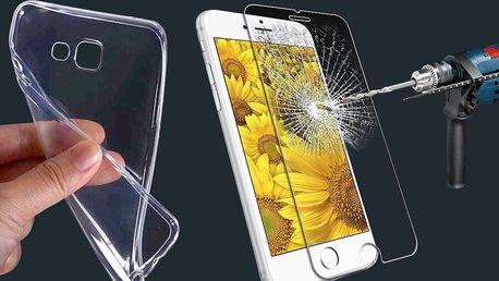 Silikonové pouzdro a tvrzené sklo pro 75 telefonů