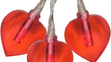 Světelný LED řetěz Best Season Hearts,280cm