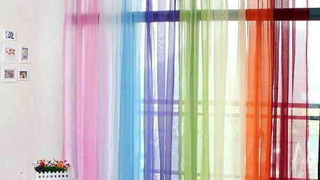 Průsvitný závěs v mnoha barvách
