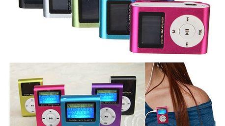 MP3 přehrávač pro paměťové karty s klipem