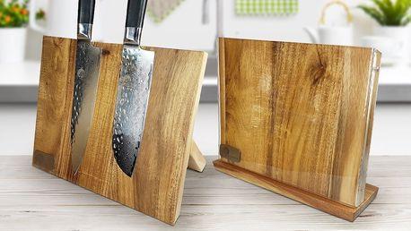 Japonská kvalita: nože či dřevěný magnetický stojan