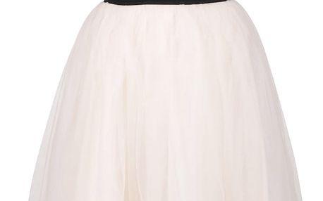 Černé šaty s meruňkovou tylovou sukní TALLY WEiJL