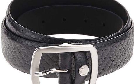 Černý kožený pásek se vzorem Ben Sherman