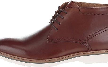 Hnědé pánské kožené kotníkové boty ALDO Frazier