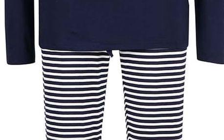 Tmavě modré kojicí pyžamo s pruhovanými kalhoty Mama.licious Tanny
