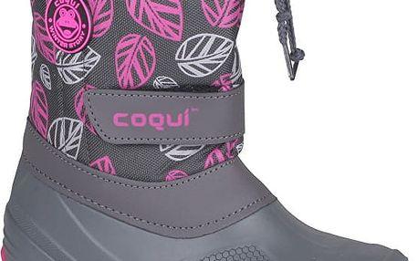 Coqui Dětské sněhule Silky 1351023 šedé 101125 36-37
