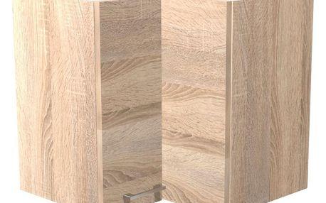 Rohová horní skříňka samoa he 60, 60/54/32 cm