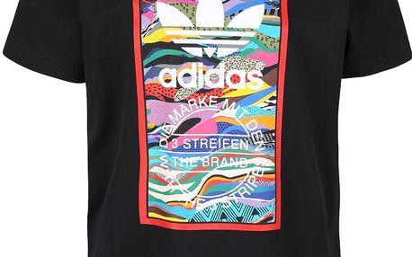 Černé pánské triko s potiskem adidas Originals