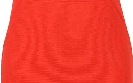 Červené elastické šaty Miss Selfridge