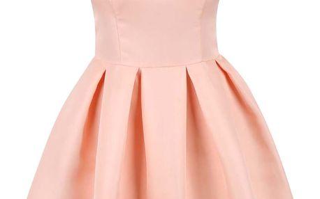 Meruňkové šaty se skládanou sukní Chi Chi London Olympia