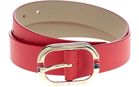 Červený dámský kožený pásek Tommy Hilfiger Honey
