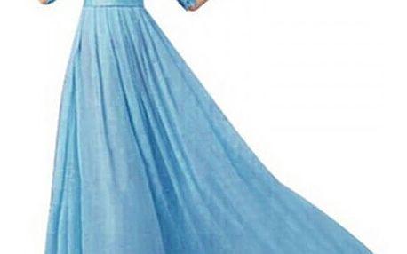 Dlouhé společenské šaty s krajkou