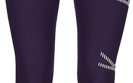 Tmavě fialové dámské legíny s potiskem Nike Power Legend
