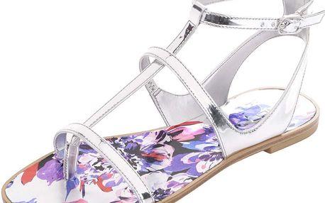 Páskové sandály ve stříbrné barvě ALDO Tiphanie