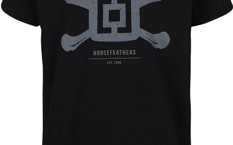 Černé pánské triko s potiskem Horsefeathers Bones