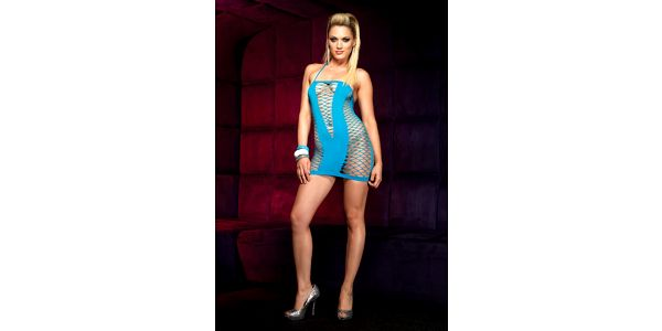 Šaty Halter Mini Dress turqouise
