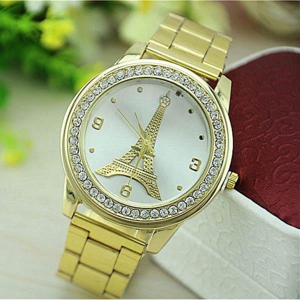 Luxusní hodinky s Eiffelovou věží - dodání do 2 dnů