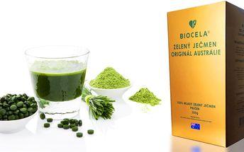 100% čistý a přírodní zelený ječmen BIOCELA