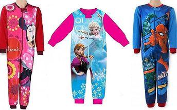 Dětský pyžamový overal v různých velikostech a variantách