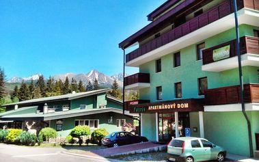 3–7denní pobyt pro 1 osobu v Tatrách u Štrbského plesa v apartmánovém domě Patris