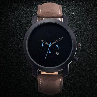 Pánské elegantní hodinky s ciferníkem bez čísel