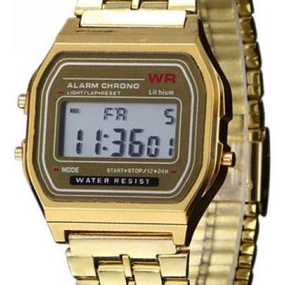 Retro digitální hodinky ve dvou barvách