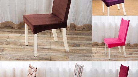 Plyšový potah na židli
