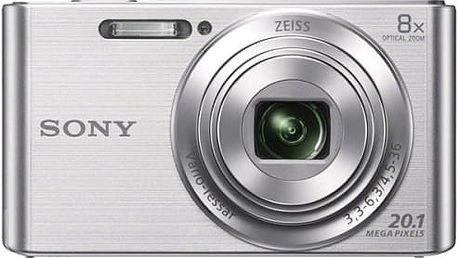 Digitální fotoaparát Sony DSC-W830S stříbrný