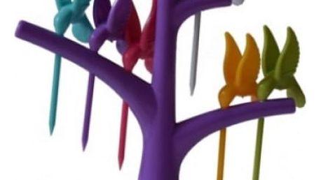 Napichovátka v podobě kolibříků - fialová - dodání do 2 dnů
