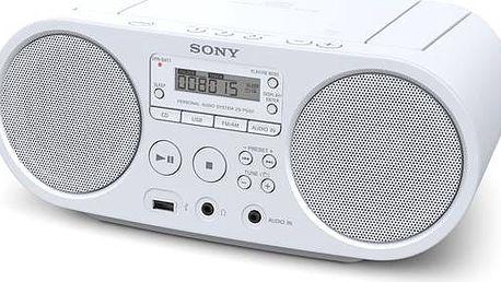 Radiopřijímač s CD Sony ZS-PS50W bílý + Doprava zdarma