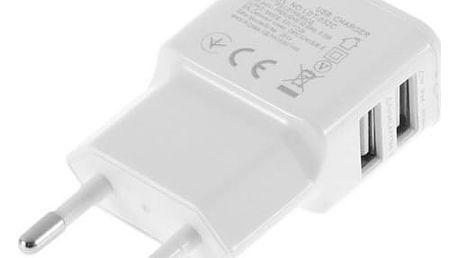 Adaptér do EU zásuvky s dvěma USB porty