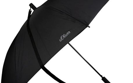 s.Oliver Pánský holový vystřelovací deštník Shoulder - černý 72461SO001