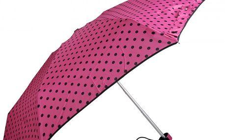Doppler Dámský skládací mechanický deštník Lolita Mini - fuchsiový 710165D-2