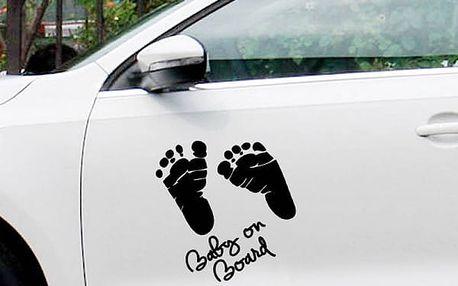 Samolepka na auto - Dětské stopy