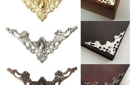 12 kusů rohové dekorace na šperkovnice či knihy - dodání do 2 dnů