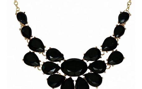 Dámský náhrdelník s velkými kameny - 3 barvy