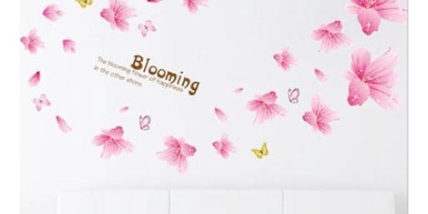 Lepící tapety na zeď - Růžové lilie - dodání do 2 dnů