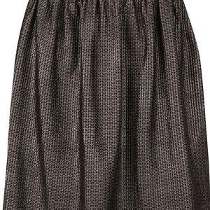 Černo-hnědá vzorovaná metalická sukně VILA Ginette
