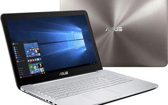 ASUS N552VX-FI035T, šedá + Microsoft Office 365 pro domácnosti - 1 rok v ceně 2299 Kč + Sleva 1kč