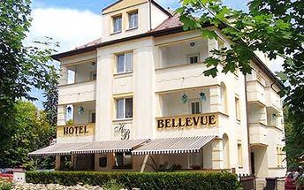 Pobyt pro dva v hotelu Bellevue u Máchova jezera s polopenzí, whirlpool, dezert, kávička a koktejl.