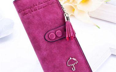 Dámská peněženka se střapcem - 8 barev