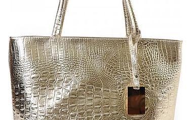 Dámská kabelka s krokodýlím vzorem - 3 barvy