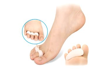 Silikonový oddělovač prstů - bílý - 1 pár