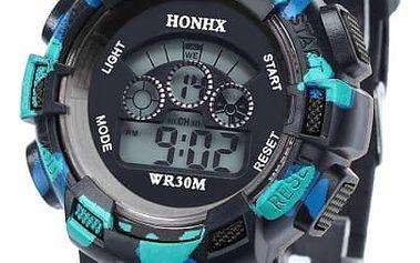 Pánské digitální hodinky s maskovaným vzorem