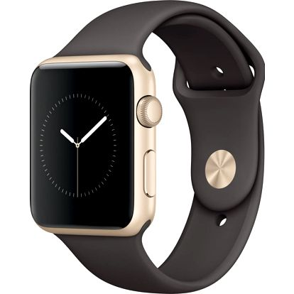 Apple Watch 42mm Gold Aluminium Case with Cocoa Sport Band - MNNN2CN/A