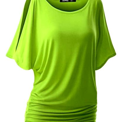 Dámské triko s otvory na ramenou v mnoha barvách