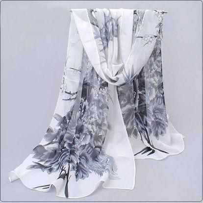 Dámský šátek s pavími motivy