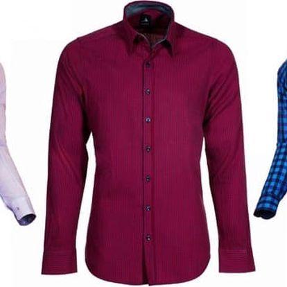 Košile Pontto modern fit či slim fit v 17 barvách a vzorech