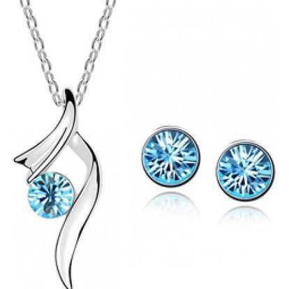Sada šperků - náušnice a náhrdelník - světle modrá - dodání do 2 dnů